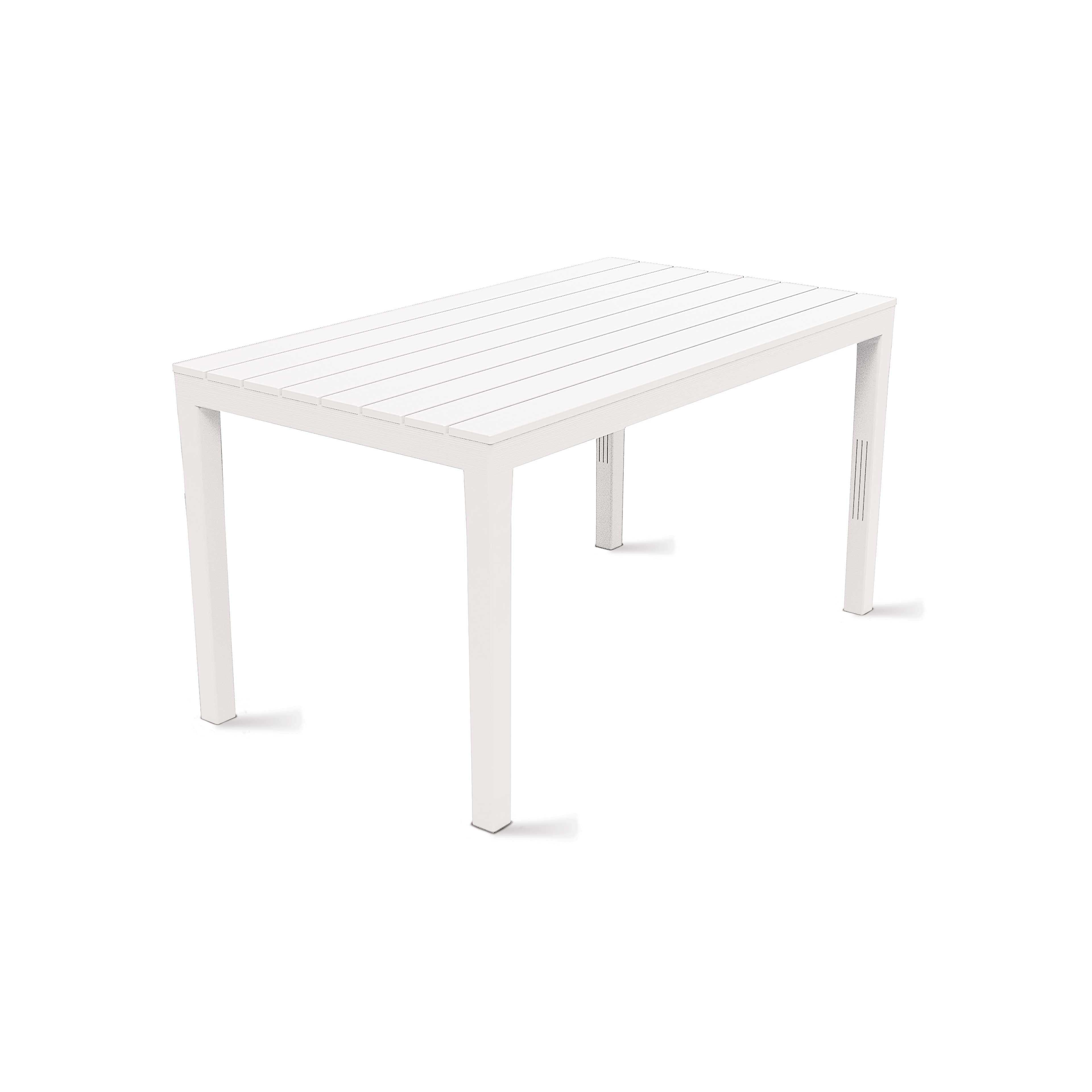 Table de jardin grise en plastique