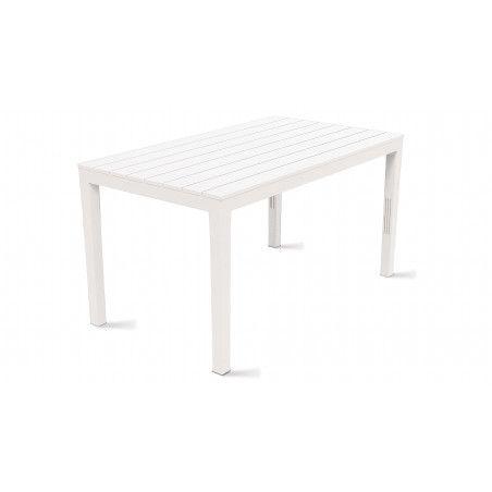 Table de jardin en plastique 138x80x72cm