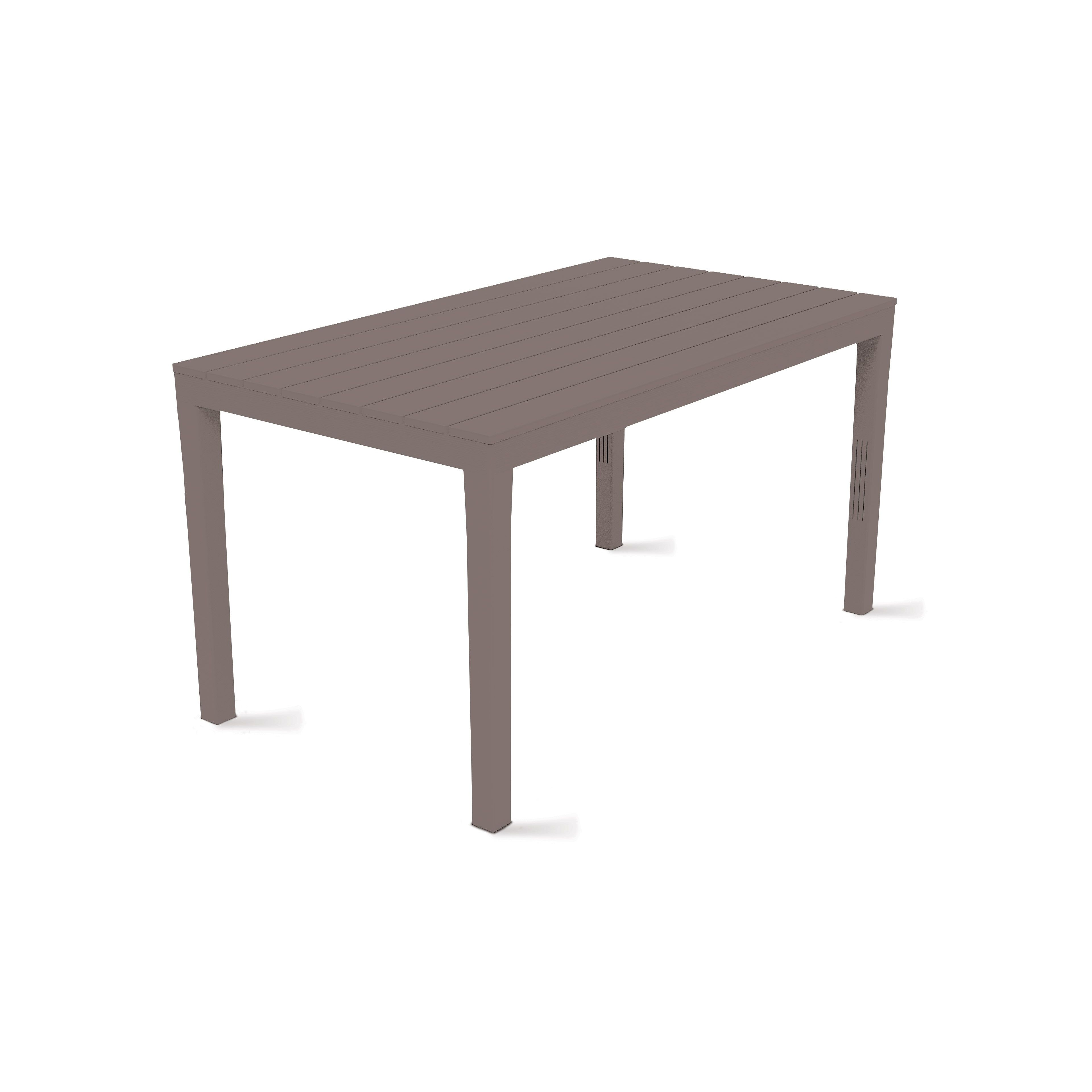 table de jardin grise en plastique. Black Bedroom Furniture Sets. Home Design Ideas
