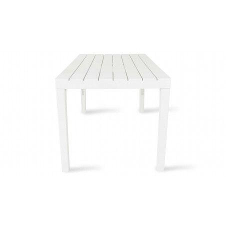 Table de jardin et 4 fauteuils en plastique