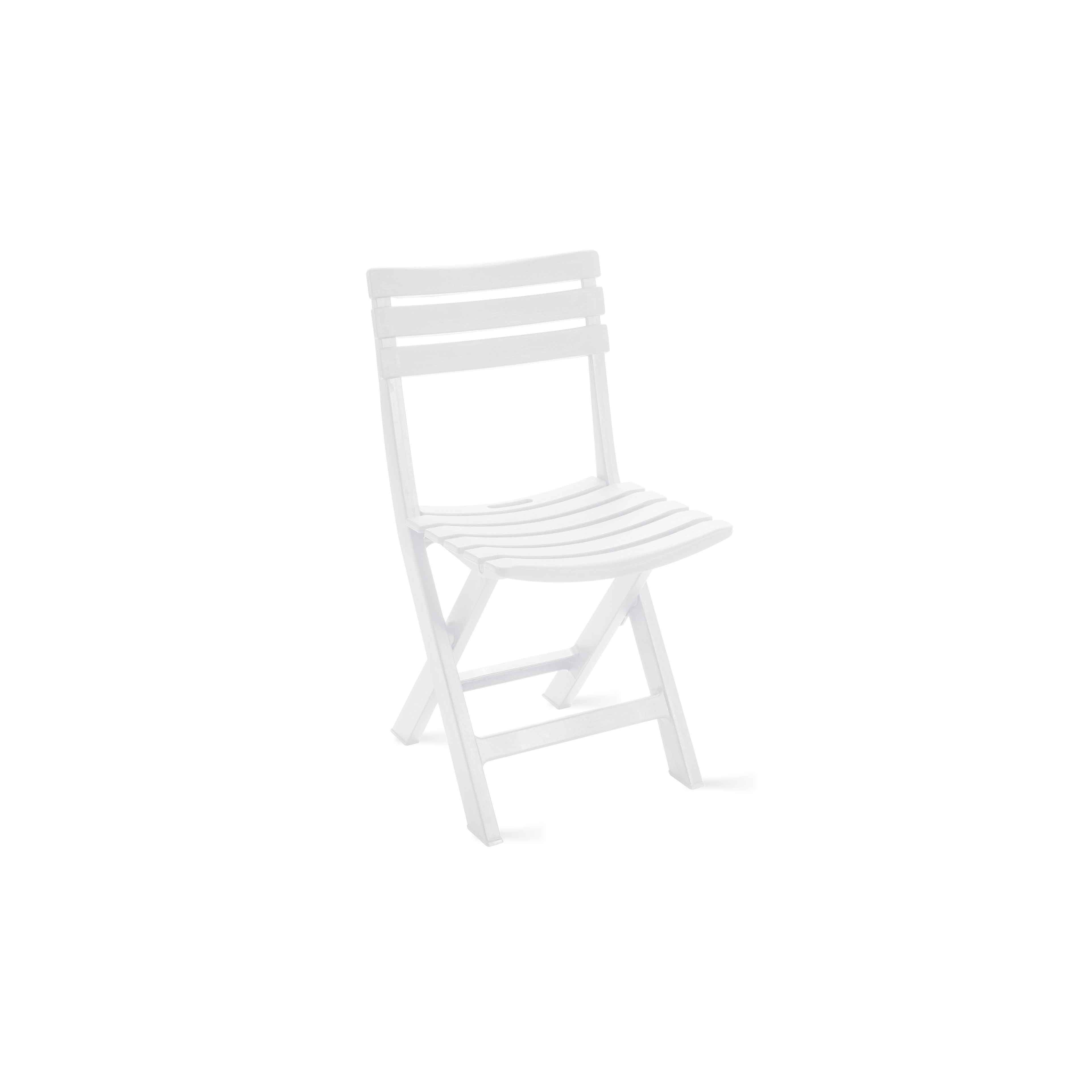 Chaise de jardin pliante en plastique