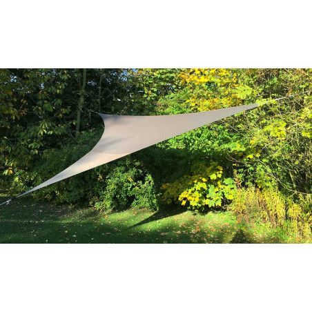 Voile d'ombrage triangulaire 3,60 m beige