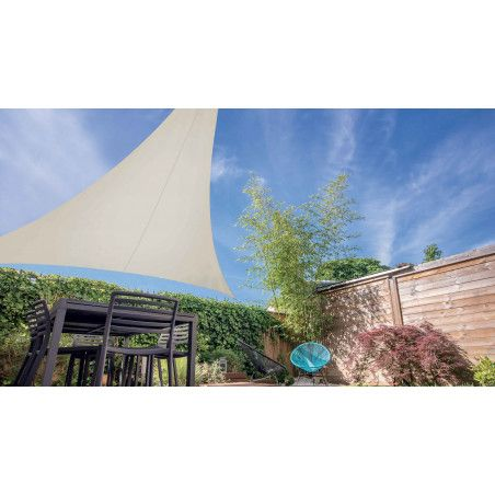 Voile d'ombrage triangulaire extensible 3,60 m