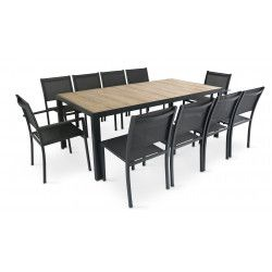 Table de jardin 10 places oviala
