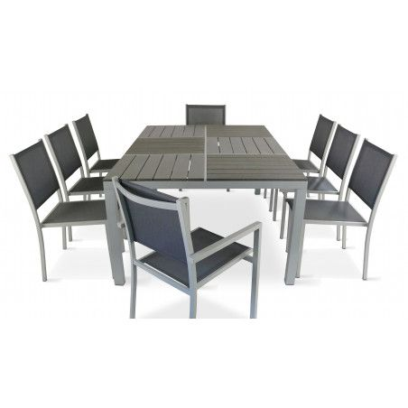 Mobilier jardin Oviala table et chaises