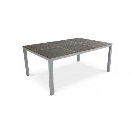 Grande table de jardin aluminium polywood