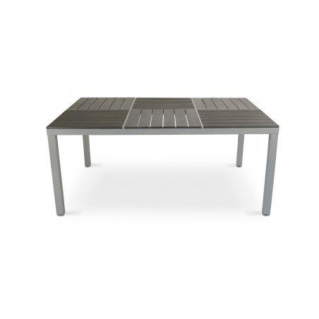 Table de jardin pas chère aluminium polywood