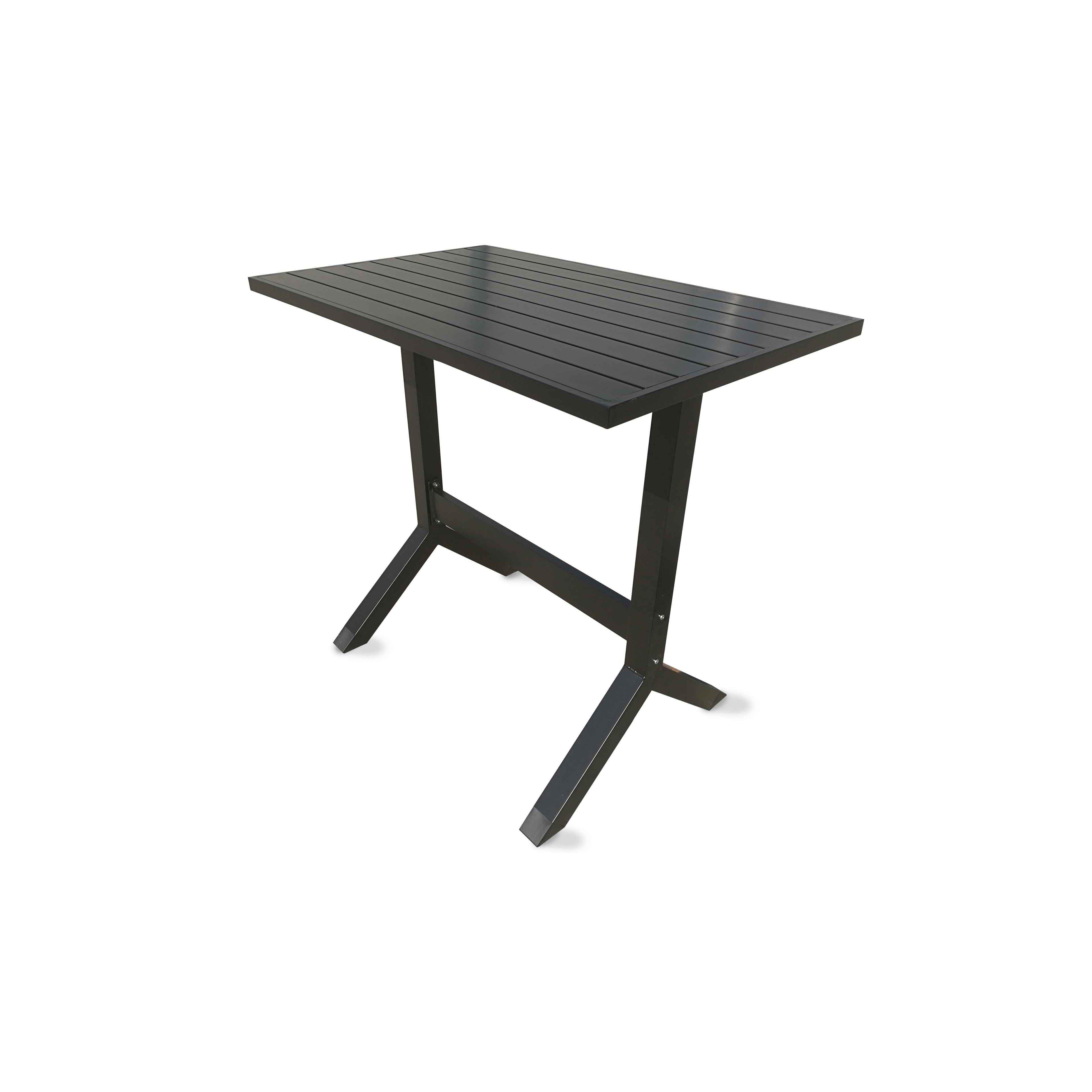 table de jardin haute en aluminium oviala. Black Bedroom Furniture Sets. Home Design Ideas