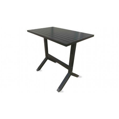 Table de jardin haute en aluminium