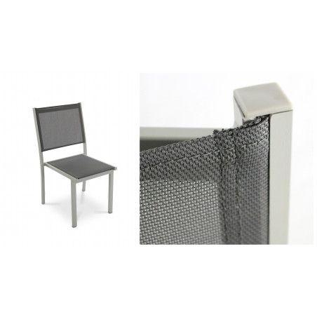 Chaise de jardin grise Oviala