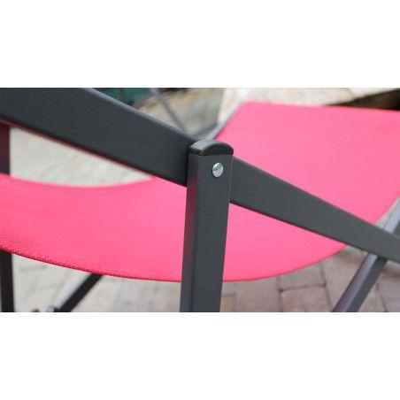 Chilienne rouge structure aluminium | SANTIAGO