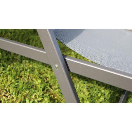 Chilienne transat gris Oviala zoom structure | SANTIAGO