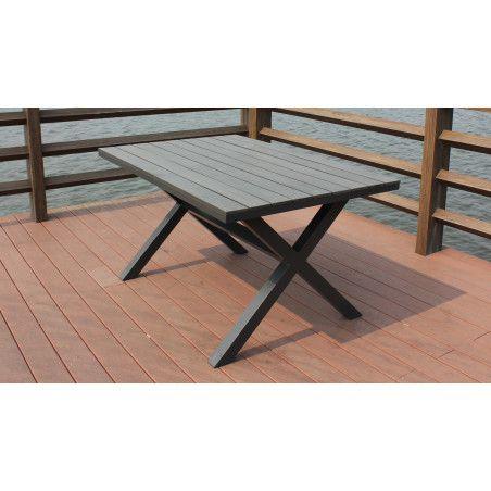 Salon de jardin design 1 table et 2 bancs