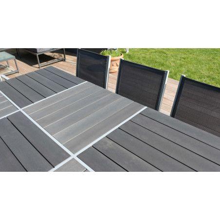 Table de jardin aluminium plateau polywood