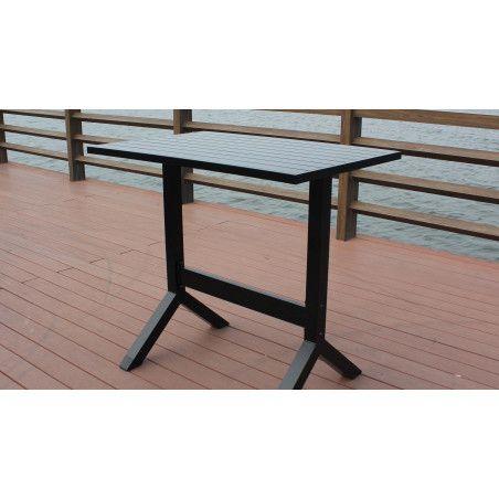 Table mange debout d'extérieur en aluminium