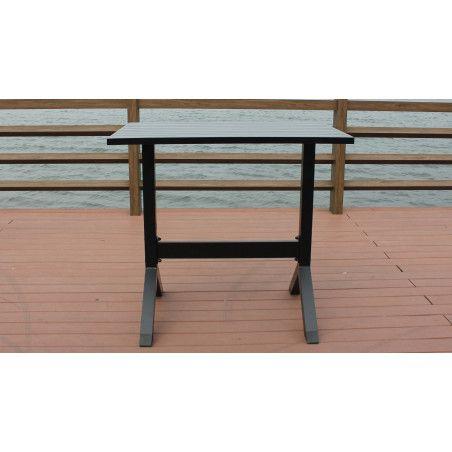 Table jardin haute aluminium