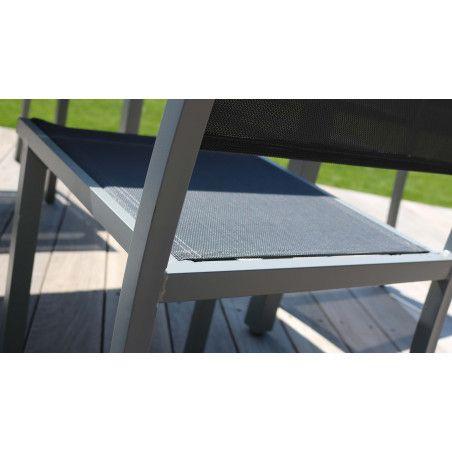 Zoom chaise de jardin textilène Oviala