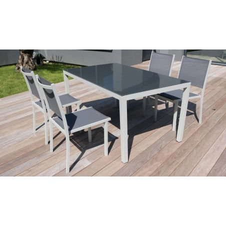 Salon de jardin 6 places table 6 chaises