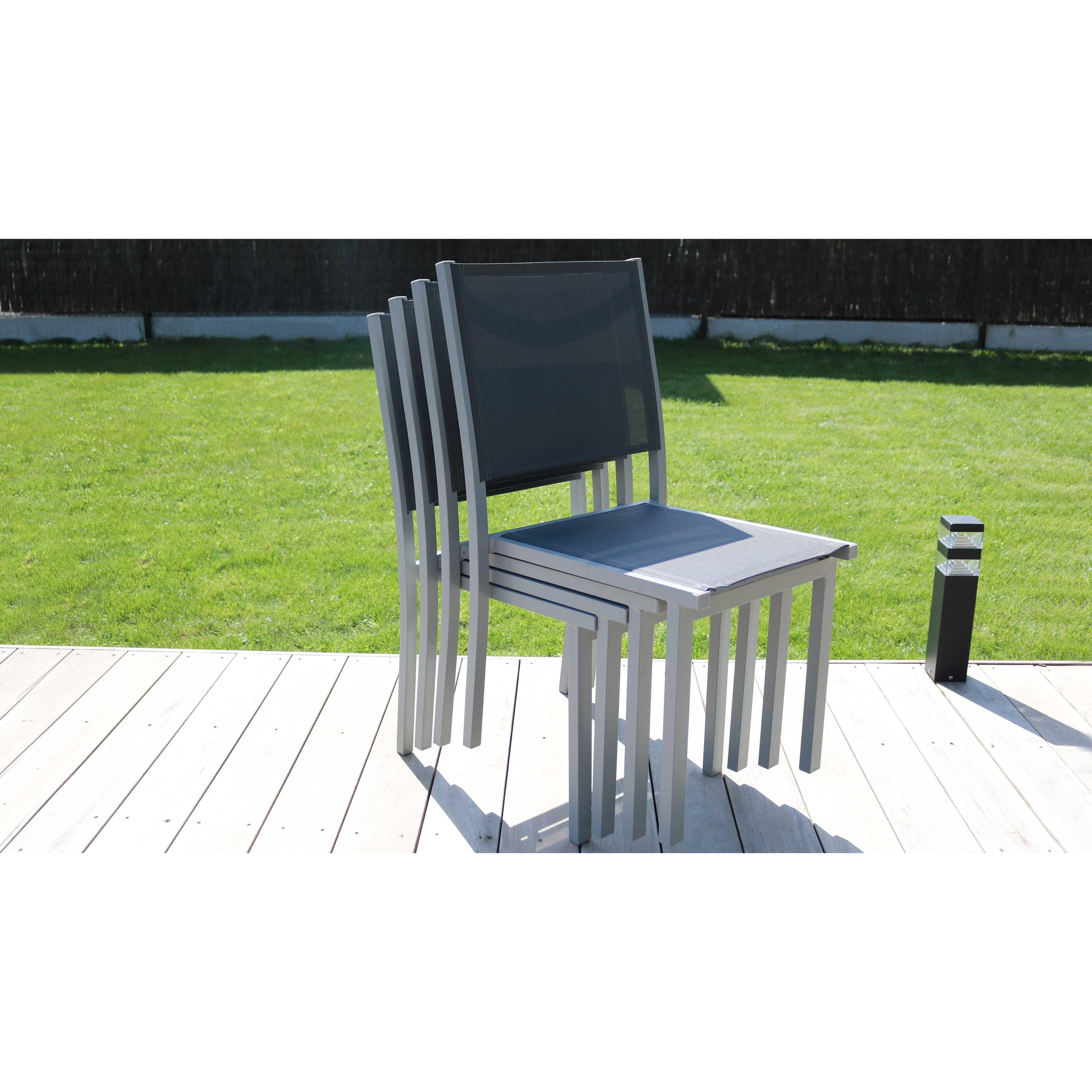 chaises de jardin empilables - Ensemble Table De Jardin Et Chaises