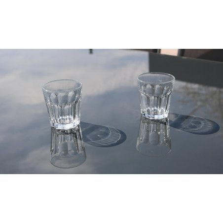 Zoom plateau en verre table Oviala