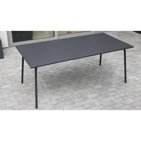 Table jardin metal grise PALAVAS