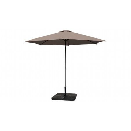 Parasol droit taupe inclinable 3 m