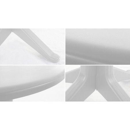 Zoom structure salon jardin blanc en PVC Oviala