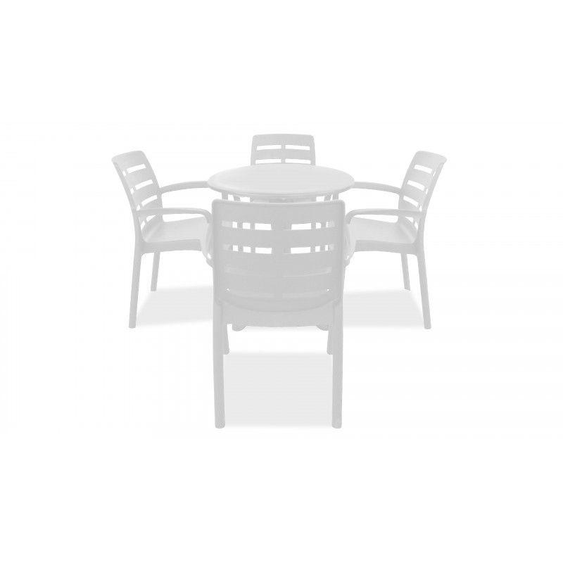 Table De Jardin Ronde En Plastique Fauteuils