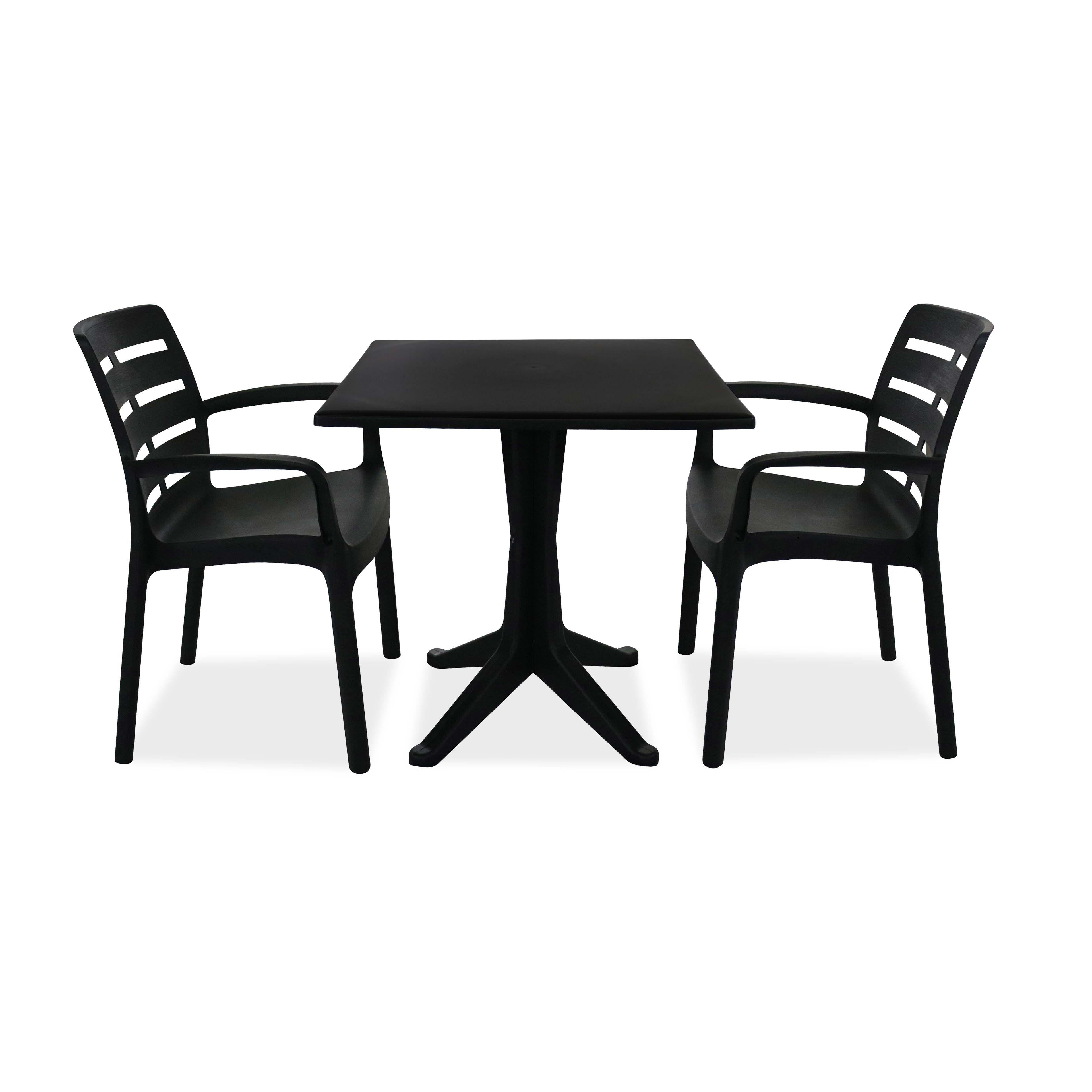 salon jardin plastique table et chaises. Black Bedroom Furniture Sets. Home Design Ideas