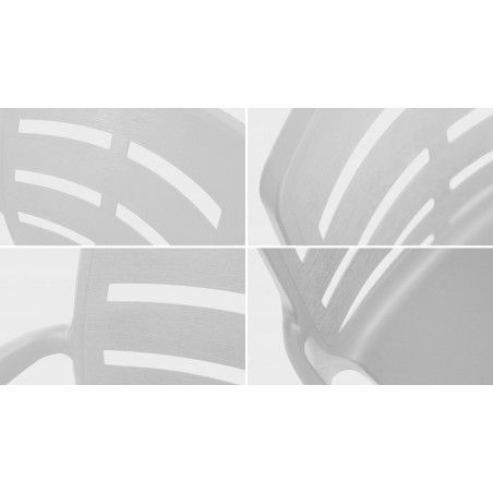Zoom structure PVC salon jardin blanc