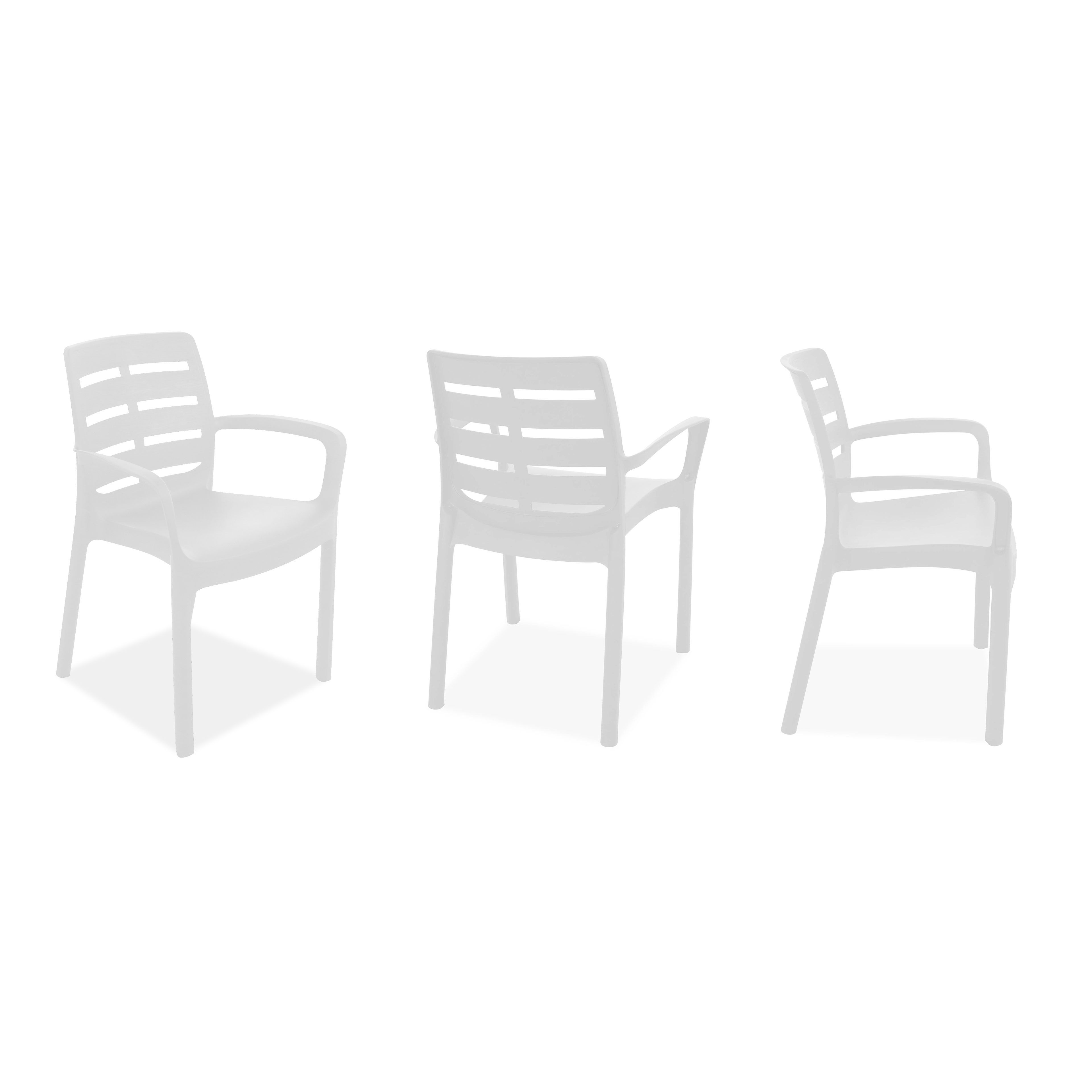 Salon jardin plastique table et chaises