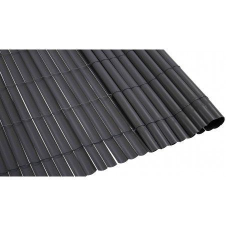Canisse PVC gris foncé 900 g/m² Oviala