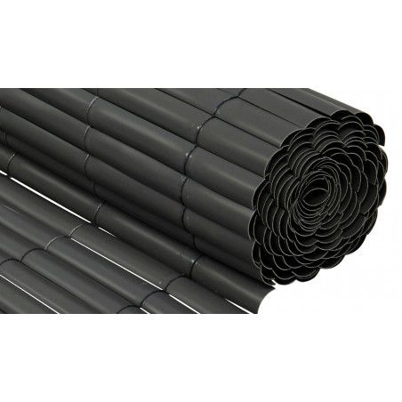 Brise vue PVC gris foncé 900 g/m² Oviala
