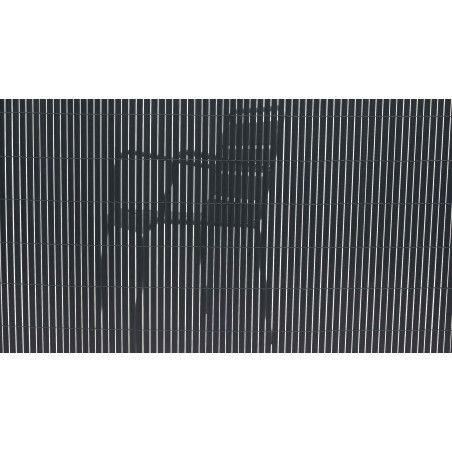 Canisse PVC double face occultant gris foncé