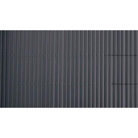 Brise vue lamelles double face 1600 g/m² gris foncé