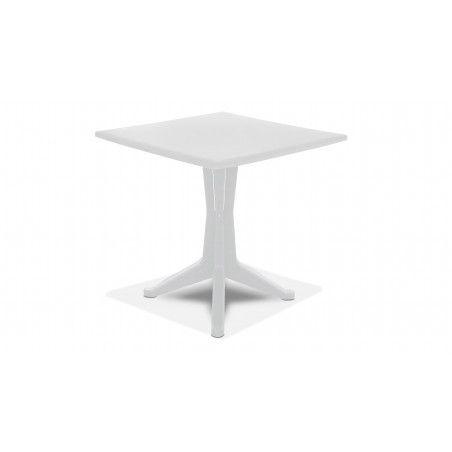 Table de jardin carrée en plastique