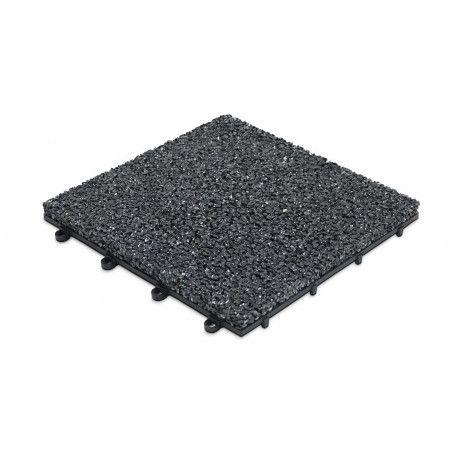 Dalle de terrasse clipsable en gravillon noir