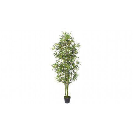 Plante artificielle avec pot bambou 210cm