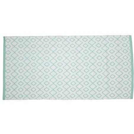 Tapis de jardin bleu clair et blanc