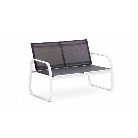 Canapé extérieur en acier et textilène