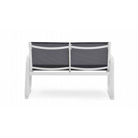 Canapé de jardin en acier et textilène