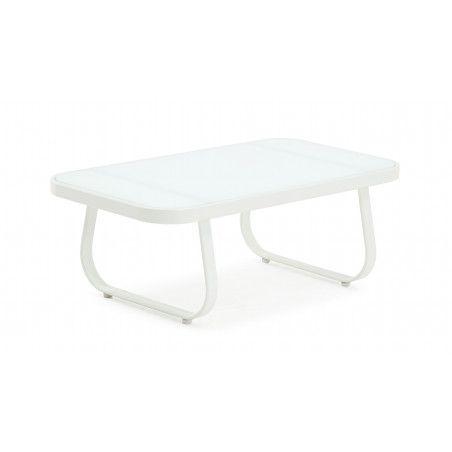Table basse de jardin blanche