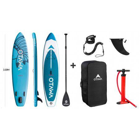 Stand up paddle gonflable de randonnée 10'10 Irokoi