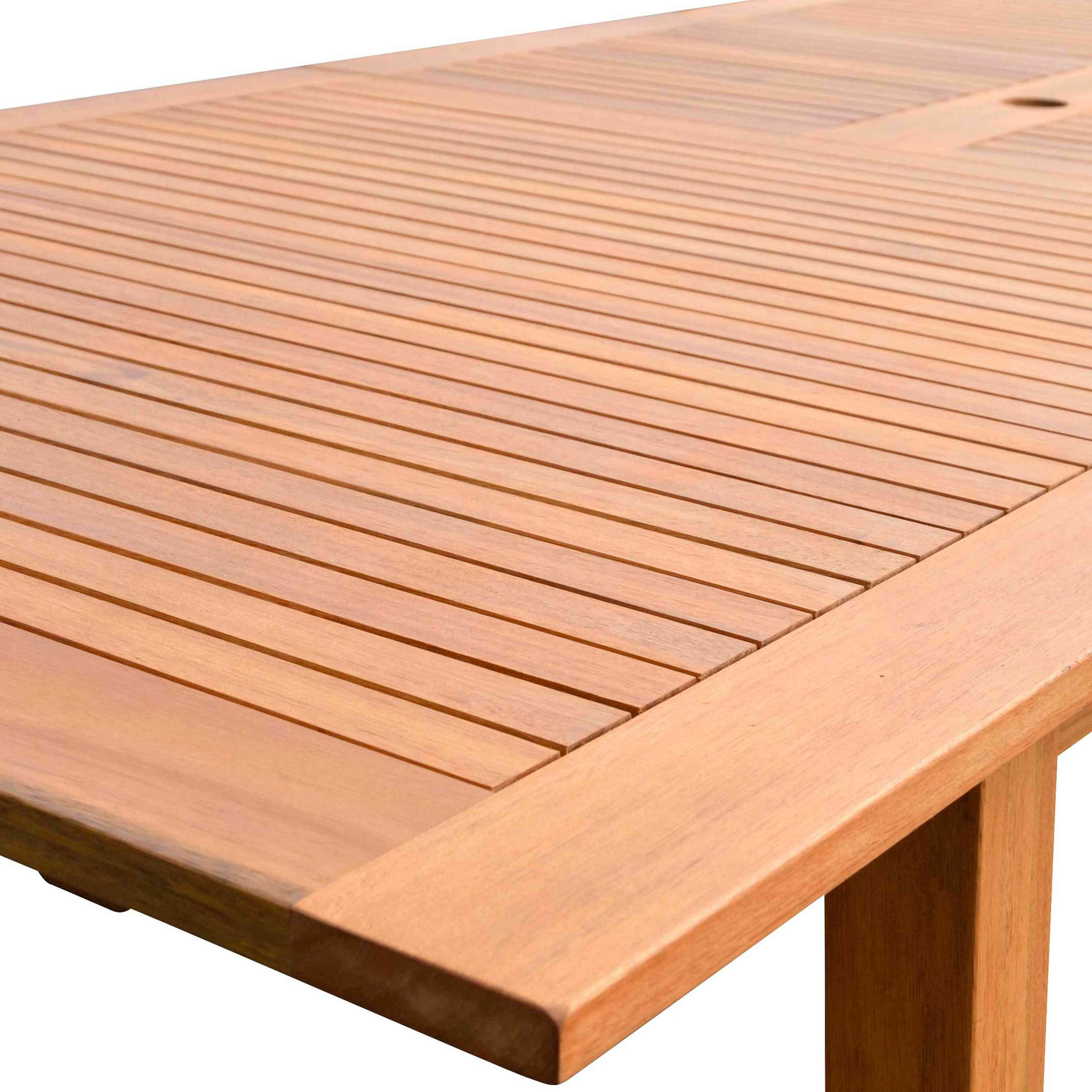 Table de jardin en bois à rallonge | Oviala