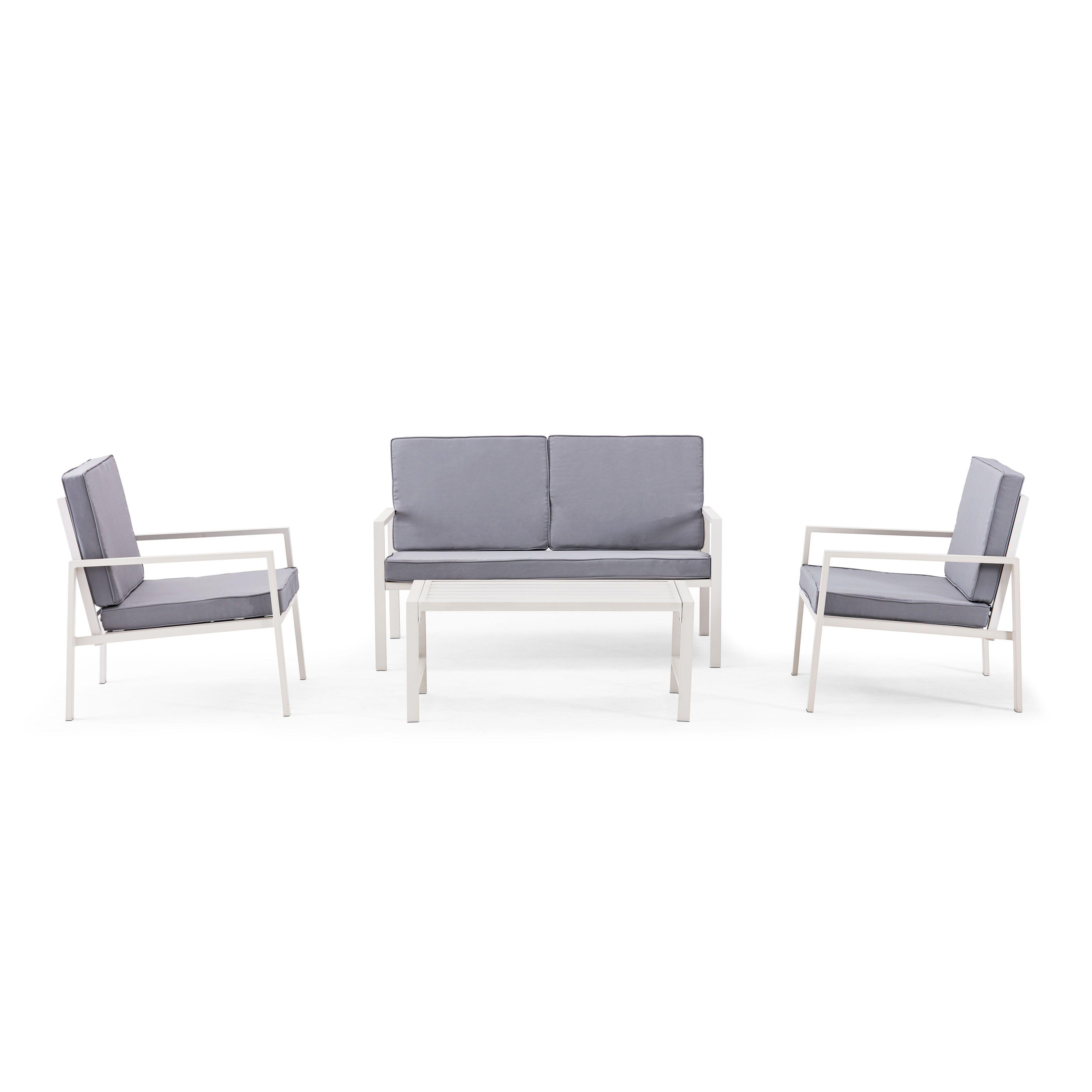 Salon jardin 4 places aluminium | Oviala