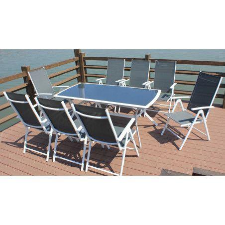 Lot de 4 fauteuils de jardin multi-positions Oviala