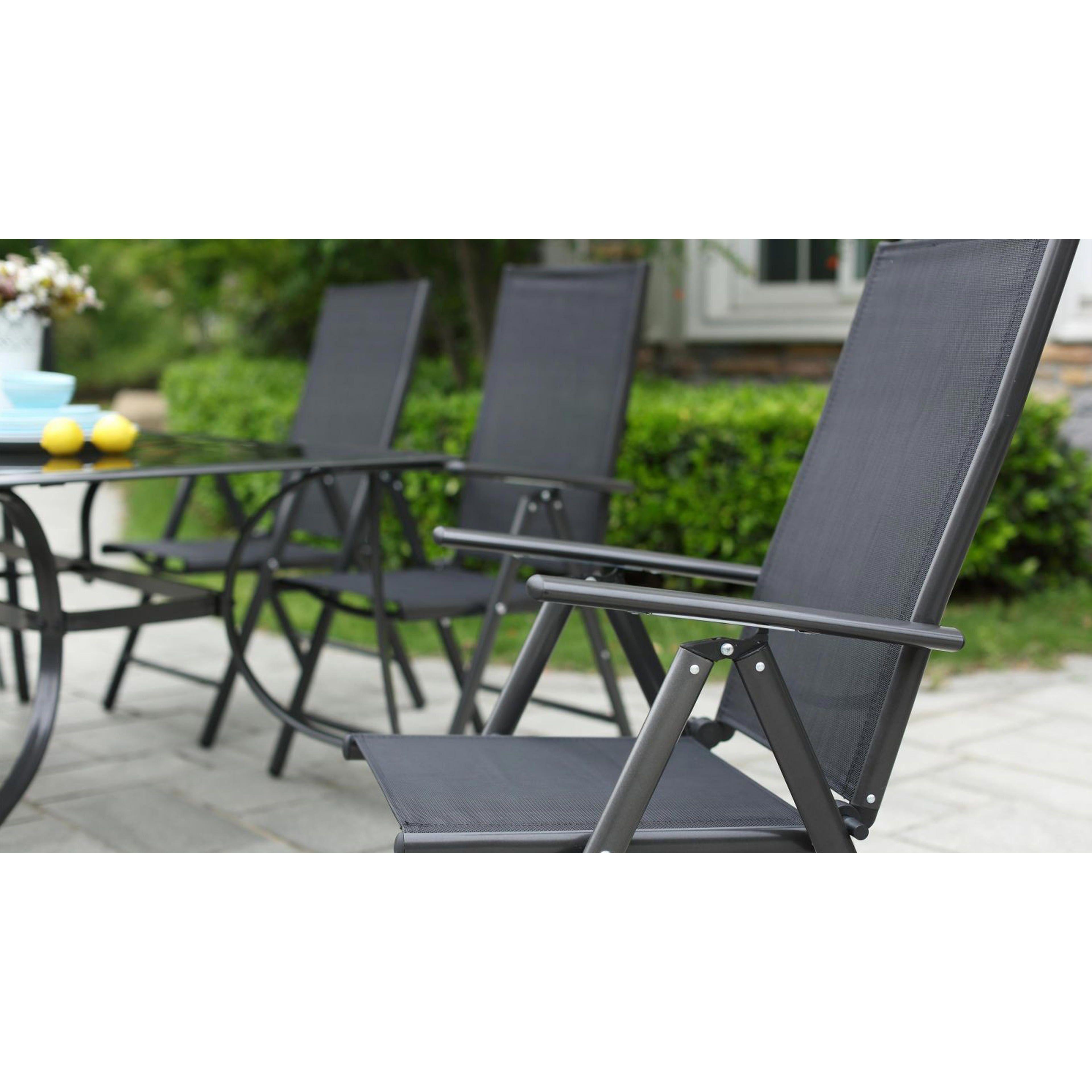 Lot de 4 fauteuils de jardin multi-positions