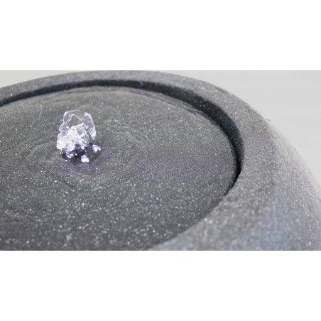 Fontaine boule en pierre reconstituée avec LED ⌀44 x 34,5cm