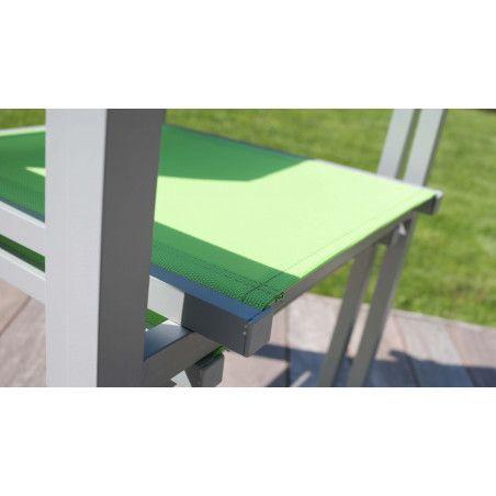 Lot de 4 fauteuils de jardin verts empilables Ajaccio