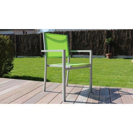 Lot de 4 fauteuils de jardin empilables Ajaccio